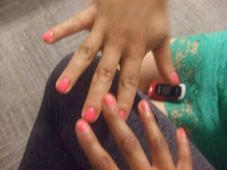 Hot Pink Nails.  So 2008.