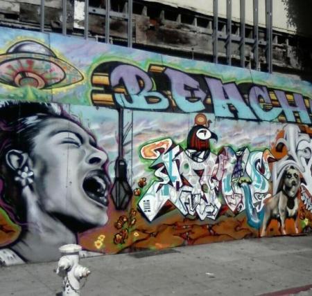 Mural in North Beach